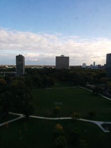 This shot is from Fiona's apartment.  You can see Ceasar's casino in the far distance.  That is Windsor.