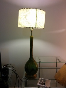 My rebuilt hippie lamp!